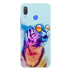 A funny, colourful yet cool portrait of a tiger wearing reflectors.Huawei Nova 3 hard plastic printed back cover