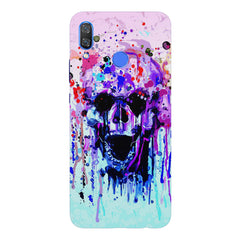 Skull with colour dripping design Huawei Nova 3 hard plastic printed back cover