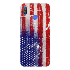 American flag design Huawei Nova 3 hard plastic printed back cover