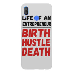 Life of an entrepreneur quote design Huawei Nova 3 hard plastic printed back cover