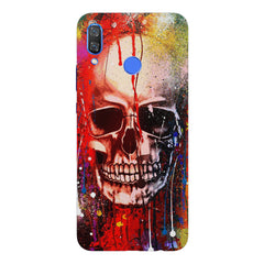 Skull design  with Holi colours drippingHuawei Nova 3 hard plastic printed back cover