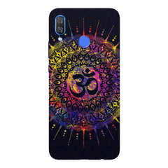Rangoli design  with OM inscribed in the middleHuawei Nova 3 hard plastic printed back cover