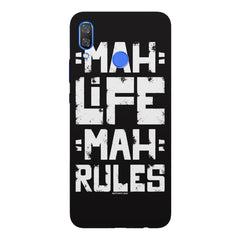 Mah Life Mah Rules Quirky design,  Huawei Nova 3 hard plastic printed back cover