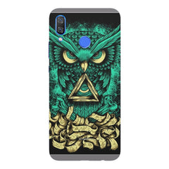 Owl Art design,  Huawei Nova 3 hard plastic printed back cover