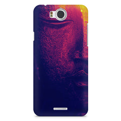 Half red face sculpture  InFocus M530 printed back cover