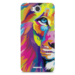 Colourfully Painted Lion design,  InFocus M530 printed back cover