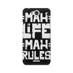 Mah Life Mah Rules Quirky design,  InFocus M530 printed back cover