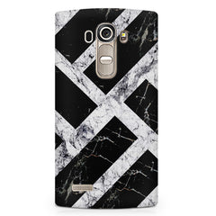 Black & white rectangular bars  LG G4 printed back cover