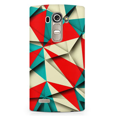 Brown and white textured  LG G4 printed back cover
