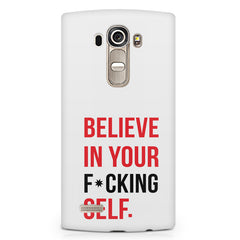 Believe in your Self LG G4 Stylus printed back cover