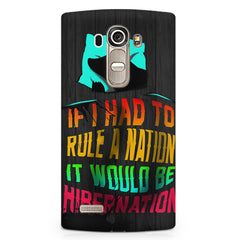 Sleep Lovers Quotes design,  LG G4 printed back cover