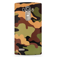 Camoflauge design LG G4 printed back cover
