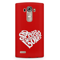 Spread some love design LG G4 printed back cover