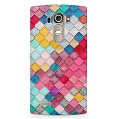 Colourful scales pattern LG G4 printed back cover