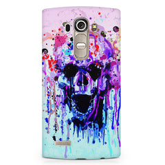 Skull colours splashed design LG G4 printed back cover