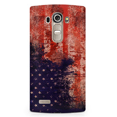 Illustrated American flag design LG G4 printed back cover