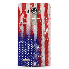 American flag design LG G4 printed back cover