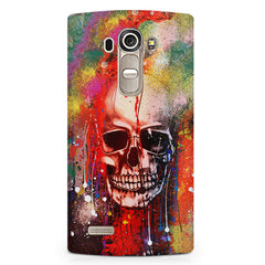 Colours splashed skull design LG G4 printed back cover