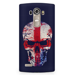 Skull with red cross design LG G4 printed back cover