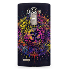 Colourful Om rangoli design LG G4 printed back cover