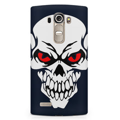Skull with red eyes design LG G4 printed back cover