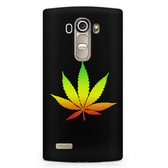 Marihuana colour contrasting design LG G4 printed back cover