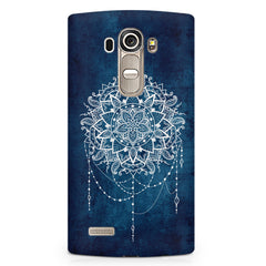 Ethnic design on blue pattern LG G4 printed back cover