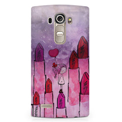 Girl with lipsticks sketch design LG G4 printed back cover