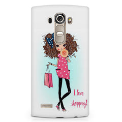 I love shopping quote design LG G4 printed back cover