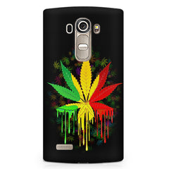 Marihuana colour contrasting pattern design LG G4 printed back cover