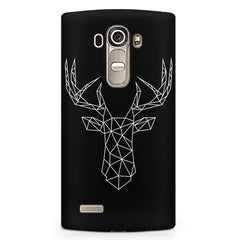 Geometrical reindeer design LG G4 printed back cover