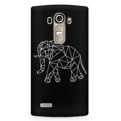 Geometrical elephant design LG G4 printed back cover