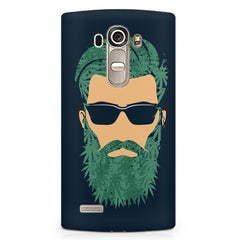 Beard guy with goggle sketch design LG G4 printed back cover