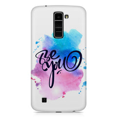 Be yourself design LG k10 printed back cover