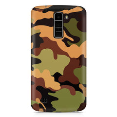 Camoflauge design LG k10 printed back cover