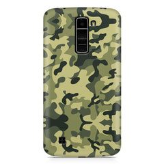 Camoflauge army color design LG k10 printed back cover