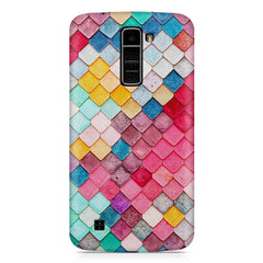 Colourful scales pattern LG k10 printed back cover