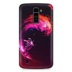 Astronaut surfing in space design LG k10 printed back cover