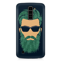 Beard guy with goggle sketch design LG k10 printed back cover