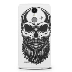 Skull with the beard  design,  LG K8 2017 printed back cover