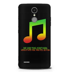 Music quotes  LG K8 2017 printed back cover