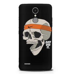 Skull Funny Just Did It !  design,  LG K8 2017 printed back cover