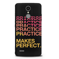 Practise makes perfect design LG K8 2017 printed back cover