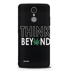 Think beyond weed design LG K8 2017 printed back cover