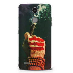 Smoke weed (chillam) design LG K8 2017 printed back cover