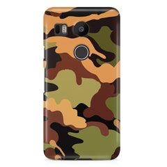 Camoflauge design  LG Nexus 5X hard plastic printed back cover.