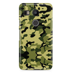 Camoflauge army color design  LG Nexus 5X hard plastic printed back cover.