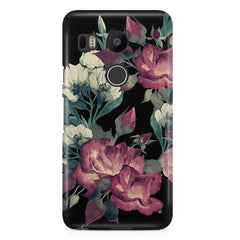 Abstract colorful flower design  LG Nexus 5X hard plastic printed back cover.