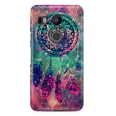 Dream catcher in the Galaxy design/colorful design  LG Nexus 5X hard plastic printed back cover.