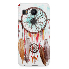Colorful Water paint Dream Catcher Design LG Nexus 5X hard plastic printed back cover.